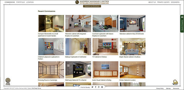 Andrew Manning Furniture website